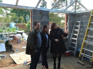Colin Bloor helps Kirsty Allsopp on the set of Love it or List it